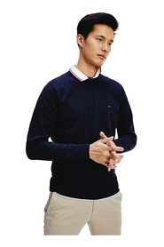 TOMMY HILFIGER MW0MW13120 FLEX CREW KNITWEAR Men BLUE