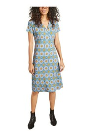 Gibraltar dress with graphic print