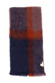 faded check scarf