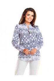 Bluzka z geometrycznym printem A239