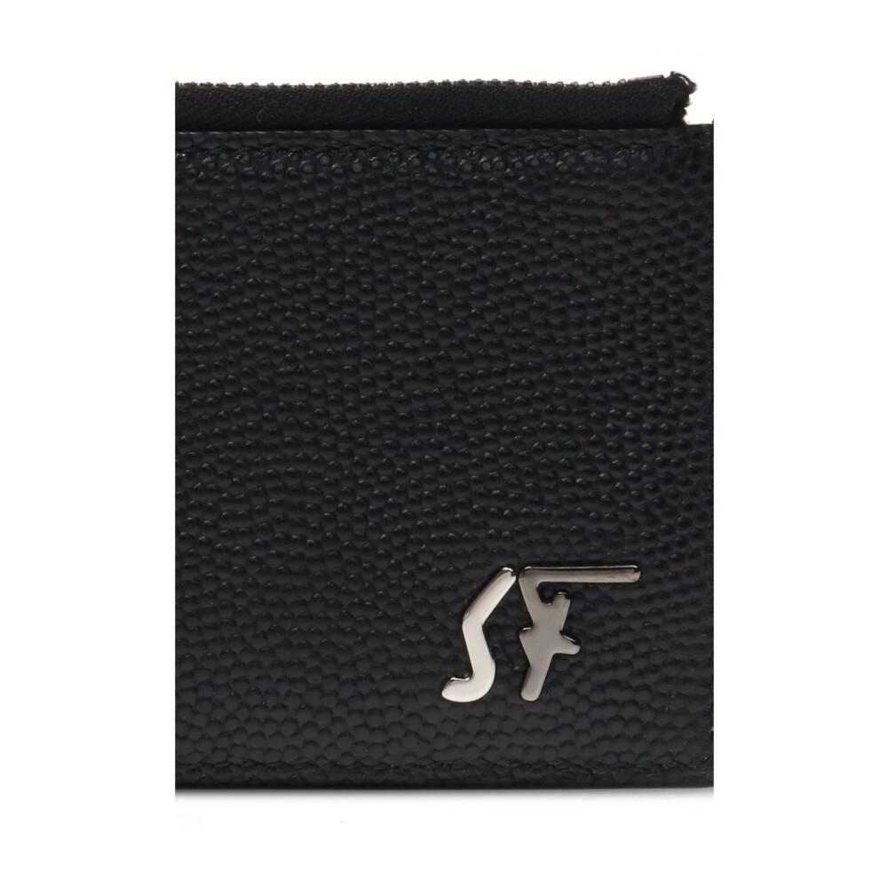 BLACK Card holder with logo | Salvatore Ferragamo | Portemonnees | Heren accessoires