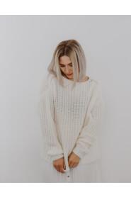 Sweter wełniany oversizowy
