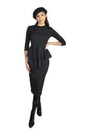 Komplet - bluzka z baskinką i spódnica ołówkowa