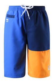 Blå-oransje Reima Wavepower badeshorts