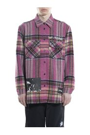 Checked Wool Shirt with Patches