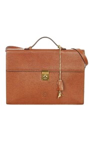 Pre-owned Leather Business Bag