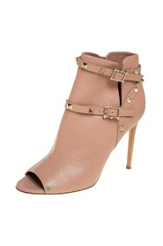 Pre-owned Ankle Strap Open Toe Booties