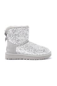 Classic Mini Cosmos silver ankle boot in sheepskin with sequins