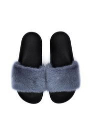 MINK FUR SLIPPERS 501 BLUE
