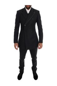 Wool Double Breasted 3 Piece Suit