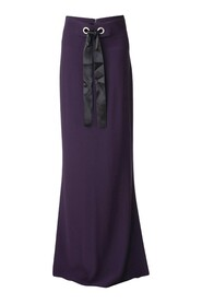 Tie-Accented Maxi Skirt