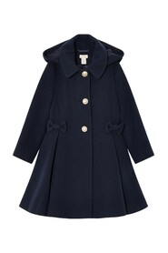 Bow Coat With Wool
