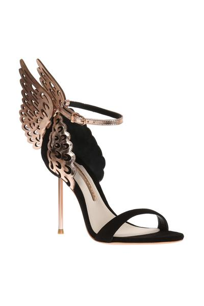 Black 'Evangeline' stiletto heel sandals | Sophia Webster | Sandaler