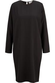 knielanges Kleid mit Schulterpolstern