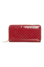 Pre-owned Microguccissima Leather Zip Around Wallet