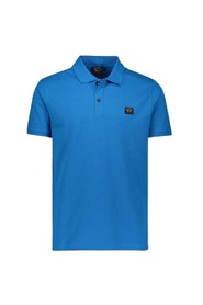 Organic polo, short sleeve with logo on the chest