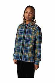 ALL OVER PRINT UTILITY ZIP FRONT SHIRT