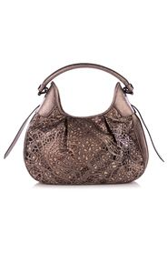 Lasercut Leather And Supernova Check Brooklyn Bag -Pre Owned Condition Excellent