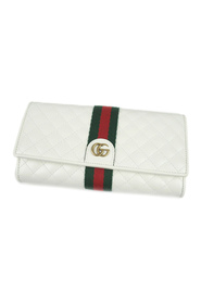 GG Marmont Web Leather Long Wallet