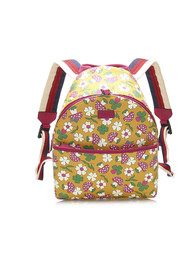 Childrens Mushroom Print Coated Canvas Backpack