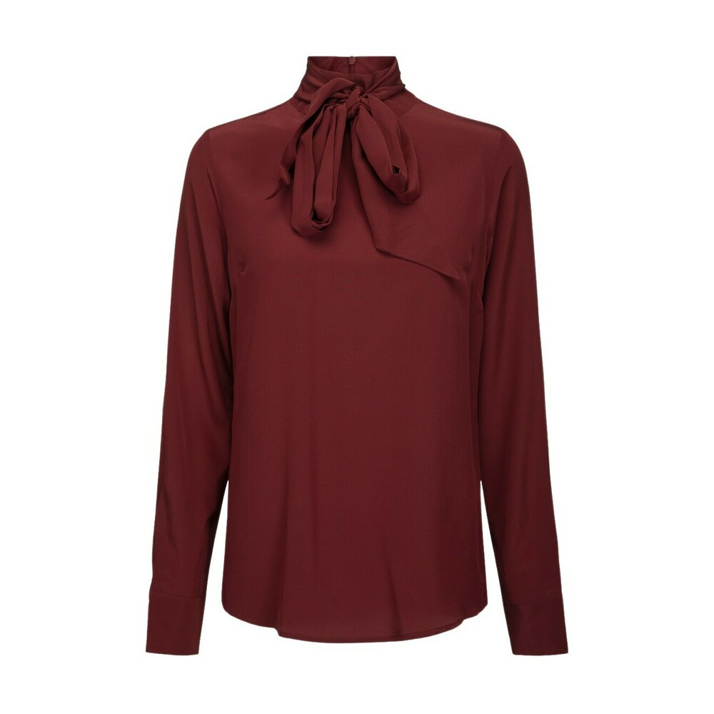 Notes Du Nord Darlene blouse bordeaux silke bluse
