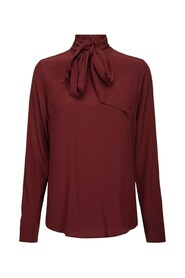 Darlene blouse burgundy silk blouse