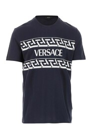 T-shirt Crew neck Short sleeves Logo and Greek print on the front