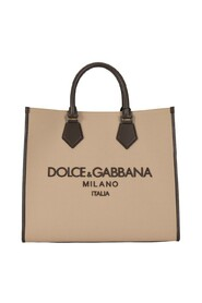 Canvas Edge shopper with embroidered logo