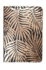 Passport cover with leaves