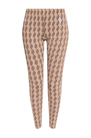 Patterned leggings with logo
