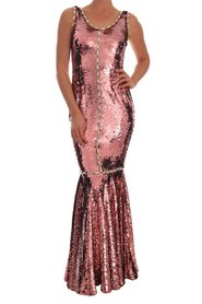 Sequined Sheath Gown