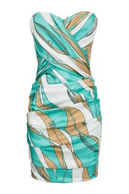 ELISABETTA FRANCHI AB02402E2 DRESS Women Tiffany/cammello
