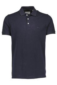 Marineblå Lindbergh Stretch Polo T-skjorte