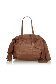 Leather Bow Satchel