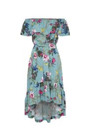 Sukienka z falbaną w kwiaty