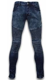 Slim Fit Biker Jeans Lined Knee Pads