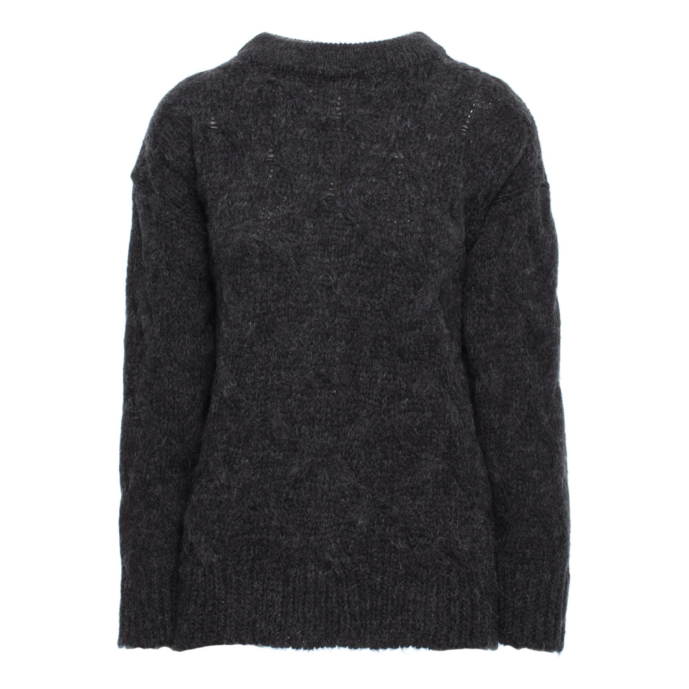 anthracite Pleated knit pullover sweater  BeWear  Stickade tröjor & koftor