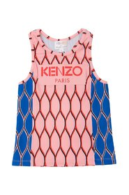 Patterned top with logo