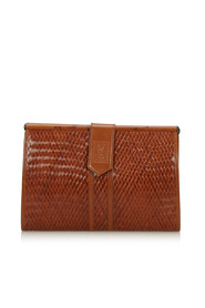 Woven Leather Clutch Bag