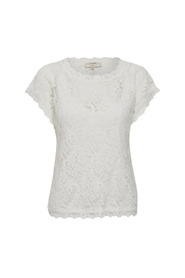 VIVI LACE TOP 10604513 Chalk