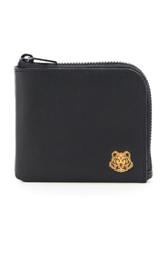 small zip wallet with tiger