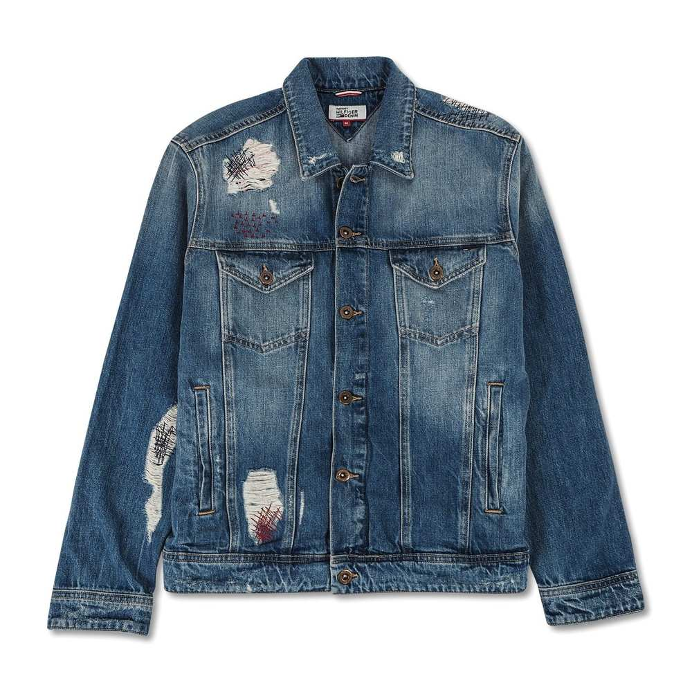 Destructed Denim Trucker Jacket