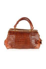 Crocodile Leather Doctor Bag Satchel Carryon Handbag