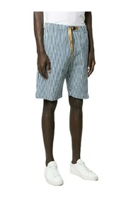 Cotton Blend Striped Shorts