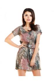 Sukienka mini z gumką w pasie A264