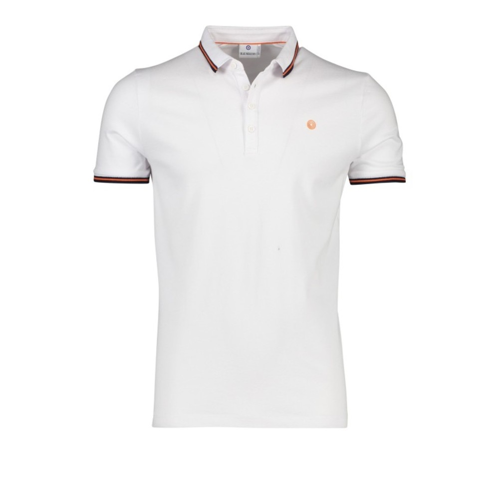Blue industry polo KBIS19-M21 White