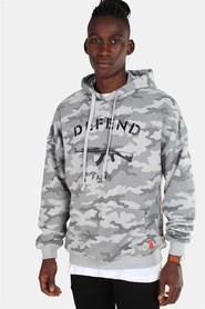 Defend Paris Paris Over Hoodie Camo H.Grey