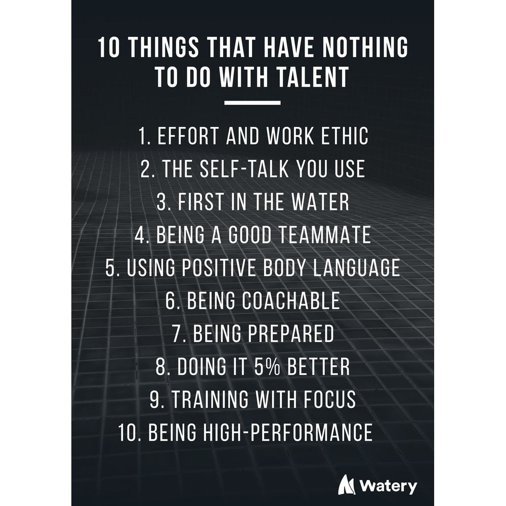 10 things that have nothing to do with talent