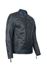 S-W STRIPES LEATHER JACKET