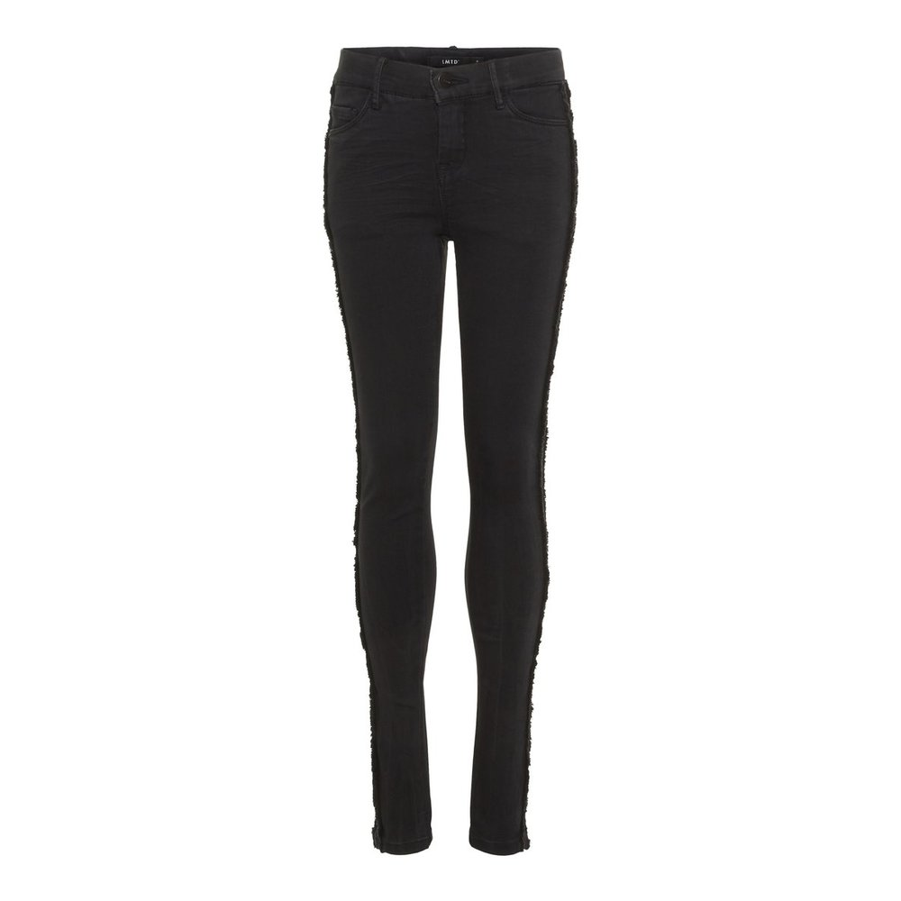 Jeans cropped skinny fit frayed